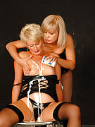 A few hot MILF get messy right after which get it on with one another