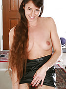 Very long haired MILF tv show off the lady scary hairy crotch and spreads it