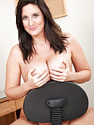 Busty brunette will get annoyed in the office and chooses to experience