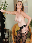 Horny MILF Tamara Fox spreads the lady adult long thighs in this particular one