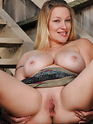 Busty 30 spring familiar MILF Allyza glowing blue gets up and dirty outside
