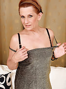 Adult housewife Lucy O peels her 58 yr old crotch lips apart