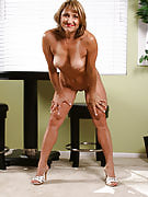 Jillian strips off her clothes and performances the lady 49 spring old crotch