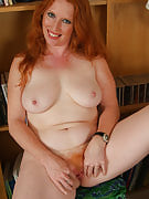 Furry redheaded MILF gets up and additionally dirty