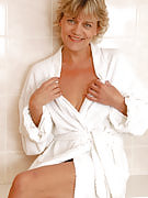 45 yr old housewife Sherry D opens this girl robe and gives you a peek