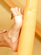 Gorgeous feet through this particular mature ebony chick, Pepper