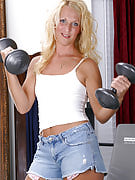 Perky MILF performances it's more fun in order to work out in the nude
