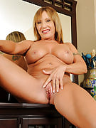 Fuckable and also horny 69 yr old Luna preads this girl pierced crotch wider