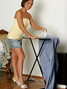 Tight bodied Szilvia shows the fast mature rear as soon as housework