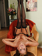Restricted bodied Angelica Lane in perverted black color and also rose lingerie having a great time