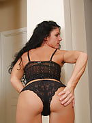 Horny brunette MILF Nia shows away how flexible her body however is