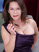Busty brunette Christy after 30 plus Ladies swinging the lady bangers as part of below