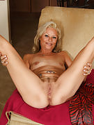 Sweet blonde 47 yr old strips away the lady purple latex of these images