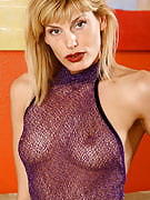 Fast assed Tabitha as part of purple lingerie spreads her legs